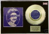 "SEX PISTOLS - 7"" Platinum Disc +cover - GOD SAVE THE QUEEN"